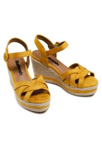 Refresh - Espadryle REFRESH - 72636 Yellow. Okazja: na co dzień. Kolor: żółty. Materiał: materiał. Sezon: lato. Obcas: na obcasie. Styl: casual. Wysokość obcasa: średni #3