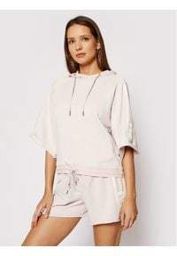 G-Star RAW - G-Star Raw Bluza Stripe Print D19803-A970-C430 Różowy Loose Fit. Kolor: różowy. Wzór: nadruk