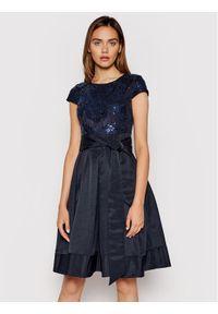 Lauren Ralph Lauren Sukienka koktajlowa 253837669002 Granatowy Slim Fit. Kolor: niebieski. Styl: wizytowy
