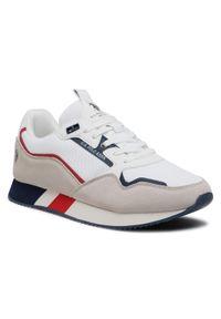 U.S. Polo Assn - Sneakersy U.S. POLO ASSN. - Lewis LEWIS4143S1/HM1 Whi. Okazja: na co dzień. Kolor: biały, wielokolorowy, beżowy. Materiał: skóra ekologiczna, skóra, materiał, zamsz. Szerokość cholewki: normalna. Styl: elegancki, sportowy, casual
