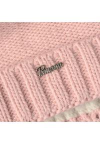Różowa czapka zimowa PaMaMi casualowa