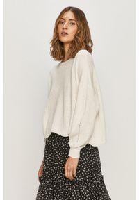 Biały sweter only długi, z długim rękawem