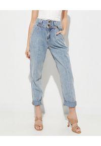 ONETEASPOON - Niebieskie jeansy Hustler High Waist. Okazja: na co dzień. Stan: podwyższony. Kolor: niebieski. Sezon: lato. Styl: casual
