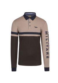 Beżowa koszulka polo Aeronautica Militare polo