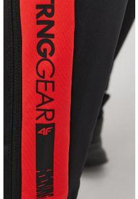 4f - 4F - Spodnie. Kolor: czarny. Materiał: włókno, dzianina