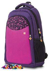 Pixie Crew Plecak szkolny, purpurowy w litery. Kolor: fioletowy