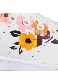 Białe buty sportowe Adidas na co dzień, Adidas Stan Smith, z cholewką