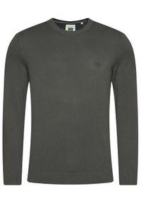Marc O'Polo Sweter M27 5066 60398 Szary Regular Fit. Typ kołnierza: polo. Kolor: szary
