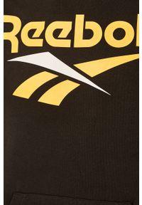 Czarna bluza nierozpinana Reebok Classic z nadrukiem, casualowa