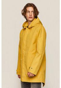 Żółta kurtka medicine gładkie, casualowa