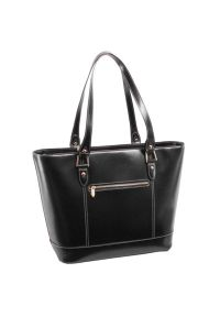 Czarna torba na laptopa MCKLEIN z aplikacjami, biznesowa #4