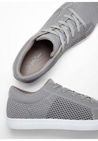 Szare buty sportowe bonprix na sznurówki