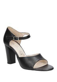 Czarne sandały Oleksy na lato, eleganckie