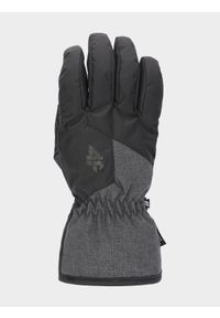 Czarne rękawiczki sportowe 4f narciarskie, na zimę, Thinsulate