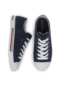 TOMMY HILFIGER - Tommy Hilfiger Trampki Low Cut Lace-Up Sneaker T3X4-30692-0890 D Granatowy. Kolor: niebieski