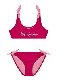 Różowy strój dwuczęściowy Pepe Jeans
