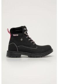Czarne buty zimowe Big-Star z cholewką, na sznurówki