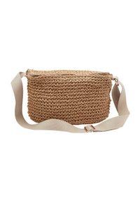 Beżowa torebka Cream na ramię, w paski