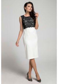 Czarna sukienka Nommo elegancka, bez rękawów