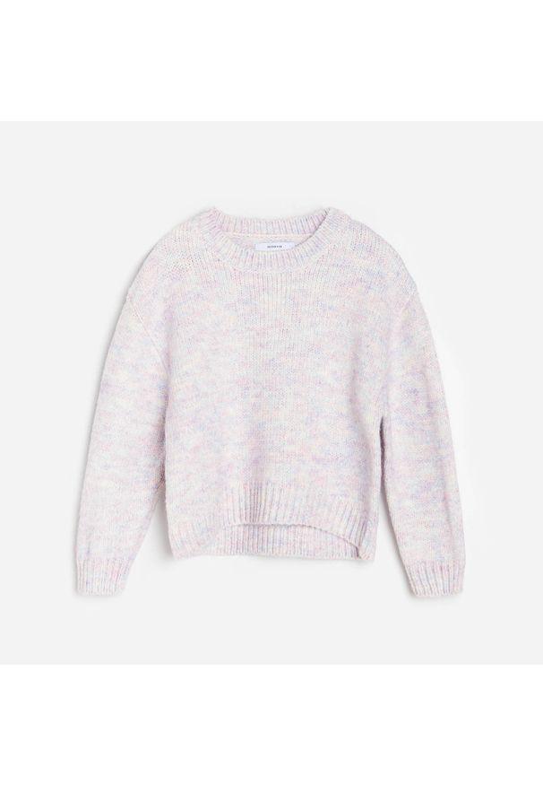 Fioletowy sweter Reserved melanż