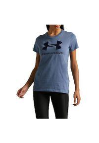 Koszulka damska Under Armour Live Sportstyle Graphic SSC 1356305. Materiał: prążkowany, tkanina, poliester, materiał, bawełna. Długość rękawa: krótki rękaw. Długość: krótkie. Sport: fitness