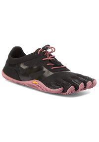 Czarne buty do fitnessu Vibram Fivefingers na płaskiej podeszwie, Vibram FiveFingers, z cholewką