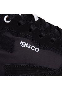 Czarne półbuty Igi & Co z cholewką, na co dzień, eleganckie