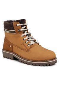 Brązowe buty zimowe Mayoral z cholewką