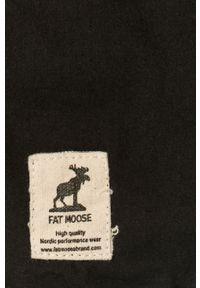 Fat Moose - Koszula. Typ kołnierza: kołnierzyk klasyczny. Kolor: czarny. Materiał: tkanina. Długość rękawa: długi rękaw. Długość: długie. Wzór: gładki. Styl: klasyczny