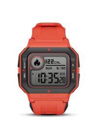 Czerwony zegarek AMAZFIT smartwatch, retro