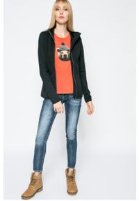 Czarna bluza rozpinana columbia bez kaptura, casualowa