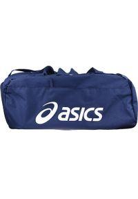 Niebieska torba sportowa Asics w kolorowe wzory