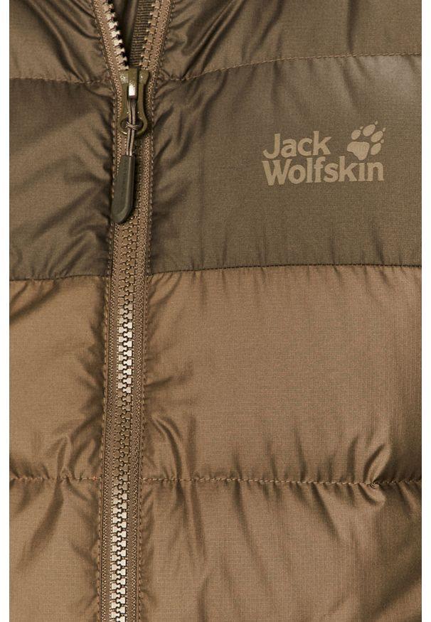 Zielona kurtka Jack Wolfskin na co dzień, casualowa, z dekoltem woda