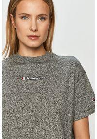 Szara bluzka Champion na co dzień, casualowa, z aplikacjami