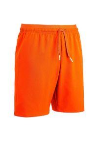 KIPSTA - Spodenki piłkarskie F500 dla dzieci. Kolor: pomarańczowy. Materiał: poliamid, elastan, poliester, materiał. Sezon: lato. Sport: piłka nożna