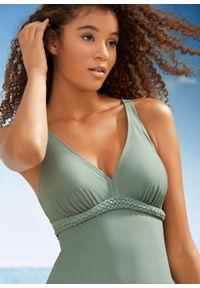 Zielony strój kąpielowy bonprix z wyjmowanymi miseczkami