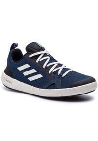 Adidas - Buty adidas - Terrex Cc Boat BC0507 Core Black/Chalk White/Core Black. Zapięcie: sznurówki. Kolor: niebieski. Materiał: materiał. Szerokość cholewki: normalna. Technologia: ClimaCool (Adidas). Sezon: lato. Model: Adidas Terrex