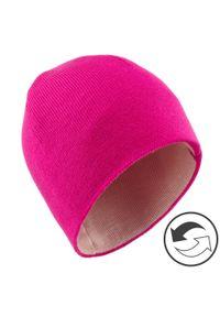 WEDZE - Czapka narciarska REVERSE dla dzieci. Kolor: różowy. Materiał: akryl, materiał