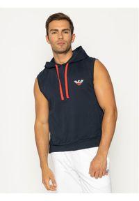 Emporio Armani Underwear Bluza 111898 0P571 00135 Granatowy Regular Fit. Kolor: niebieski