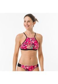 OLAIAN - Góra kostiumu kąpielowego ANDREA FURAI BLOGGER damska. Kolor: różowy. Materiał: elastan, poliester, materiał, poliamid