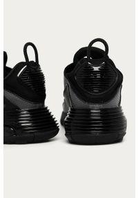 Czarne sneakersy Nike Sportswear z cholewką, Nike Air Max, na sznurówki