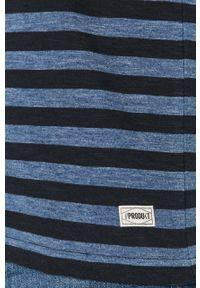 Niebieski t-shirt PRODUKT by Jack & Jones z okrągłym kołnierzem, casualowy #5