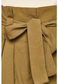 Oliwkowe spodnie materiałowe only casualowe, na co dzień