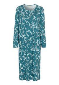 Cellbes Długa koszula nocna Ciemny morski w kwiaty female ze wzorem 58/60. Kolor: morski. Długość: długie. Wzór: kwiaty