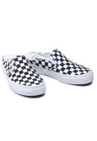 Vans - Klapki VANS - Classic Slip-On M VN0A4P3U5GU1 (Checkerboard) Blk/Truwht. Okazja: na spacer. Kolor: wielokolorowy, biały, czarny. Materiał: materiał. Sezon: lato