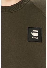 Zielona bluza nierozpinana G-Star RAW casualowa, bez kaptura, raglanowy rękaw, na co dzień