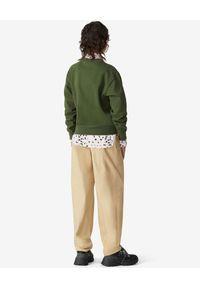 Kenzo - KENZO - Zielona bluza z kolorowym logo. Kolor: zielony. Materiał: jeans, bawełna. Długość rękawa: długi rękaw. Długość: długie. Wzór: kolorowy. Sezon: wiosna. Styl: klasyczny