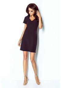 Czarna sukienka IVON trapezowa, mini