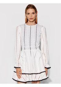 Rage Age Sukienka codzienna Hagne 2 Biały Regular Fit. Okazja: na co dzień. Kolor: biały. Typ sukienki: proste. Styl: casual