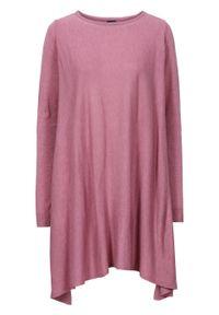 Różowy sweter bonprix retro, melanż